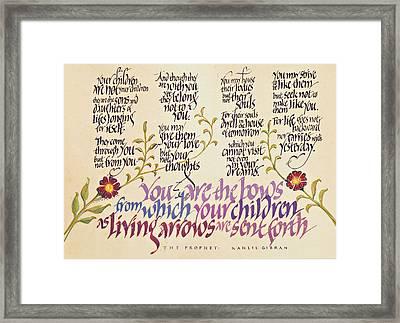 Kahlil Gibran - Children Framed Print