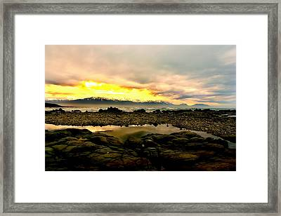 Framed Print featuring the photograph Kaikoura Coast New Zealand by Amanda Stadther