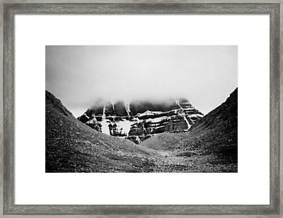 Kailash Mountain North Slope Framed Print by Raimond Klavins