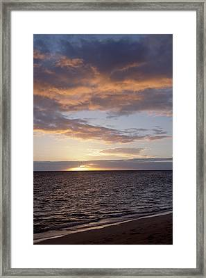 Kailua Sunset Framed Print by Brandon Tabiolo