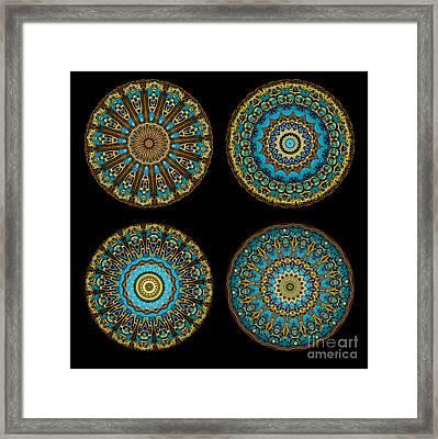 Kaleidoscope Steampunk Series Montage Framed Print