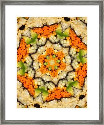 Kaleidoscope Vegetable Sushi Framed Print