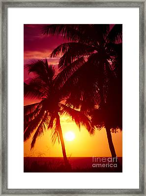 Framed Print featuring the photograph Kamaole Nights by Sharon Mau