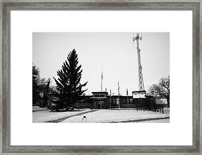 Kamsack Town Office Saskatchewan Canada Framed Print by Joe Fox