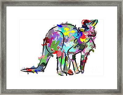 Kangaroo Framed Print by Chris Butler