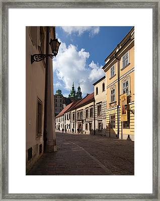 Kanonicza Street And The Archdiocese Framed Print by Panoramic Images