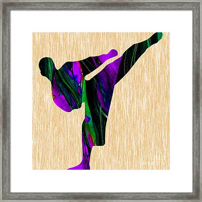 Karate Painting Framed Print
