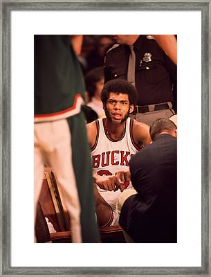 Kareem Abdul Jabbar Resting Framed Print by Retro Images Archive
