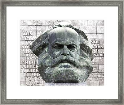 Karl Marx Monument In Chemnitz Framed Print