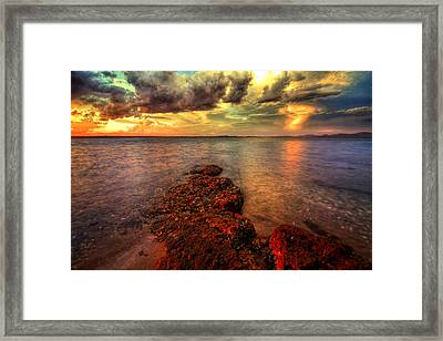 Karuah Sunset Framed Print