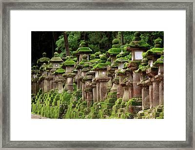 Kasuga-taisha Shrine In Nara, Japan Framed Print