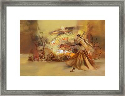 Kathak Dancer 4 Framed Print by Catf