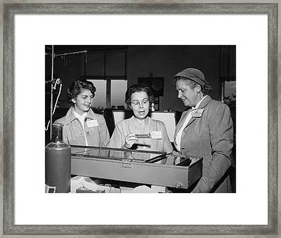 Katharine Blodgett Framed Print by Emilio Segre Visual Archives/american Institute Of Physics