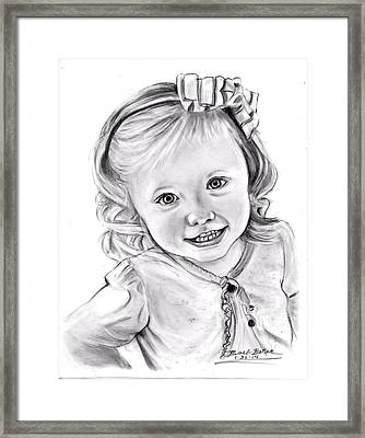 Katie Framed Print by Barb Baker