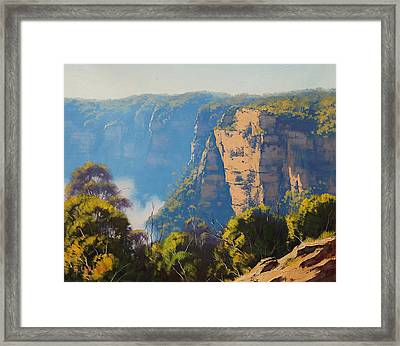 Katoomba Cliffs Framed Print by Graham Gercken