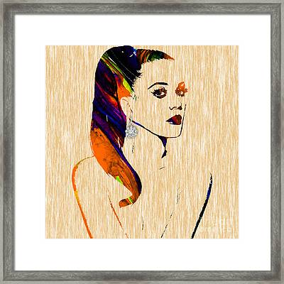 Katy Perry Collection Framed Print by Marvin Blaine