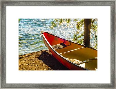 Kayak By The Water Framed Print