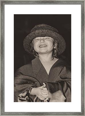 Kaylee Smilin' Framed Print