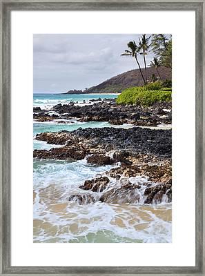 Keanae Lava Rock Framed Print by Jenna Szerlag