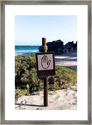 Keep Off The Beach Framed Print by Jannis Werner