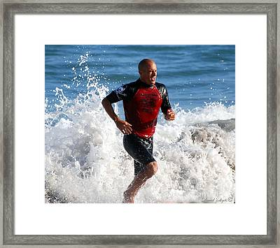 Kelly Slater World Surfing Champion Copy Framed Print