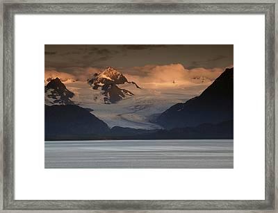 Kenai Mountains And Kachemak Bay Framed Print by Michel Hersen