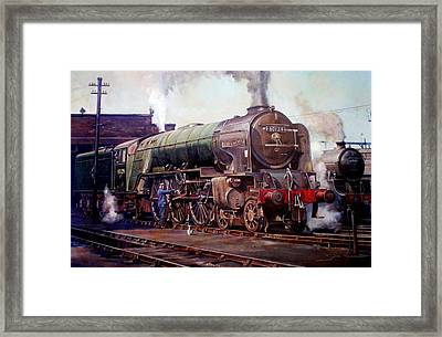 Peppercorn Pacific Kenilworth On Shed. Framed Print