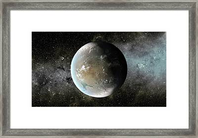 Kepler-62f Framed Print by Nasa/ames/jpl-caltech