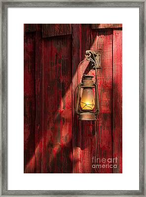 Kerosene Lantern Framed Print