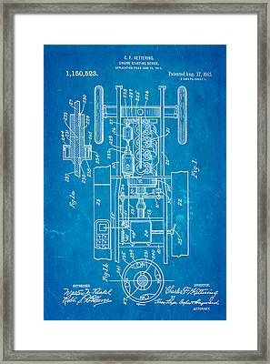 Kettering Electric Ignition Patent Art 1915 Framed Print