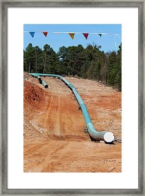 Keystone Xl Pipeline Construction Framed Print by Jim West