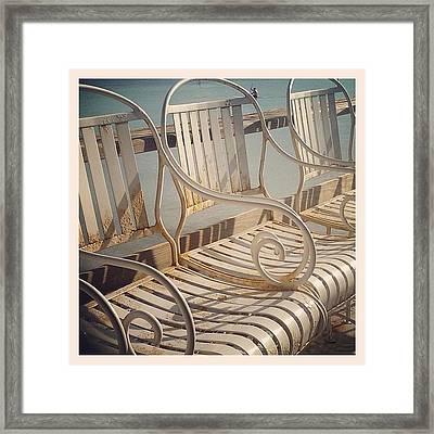 Beach Bar Chairs Framed Print
