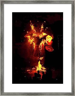 Khar, Mumbai Ram Leela, The Story Framed Print by Jaina Mishra