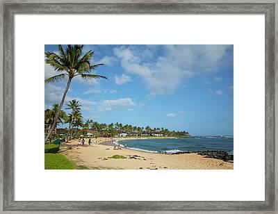 Kiahuna Beach, Poipu, Kauai, Hawaii Framed Print by Douglas Peebles