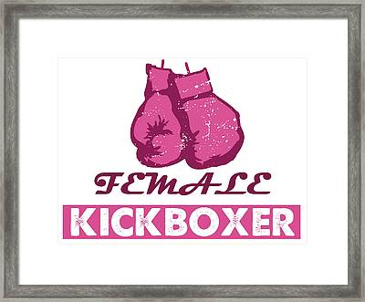 kick boxer - Female Kickboxer Framed Print