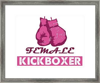 kick boxer - Female Kickboxer Framed Print by MotionAge Designs