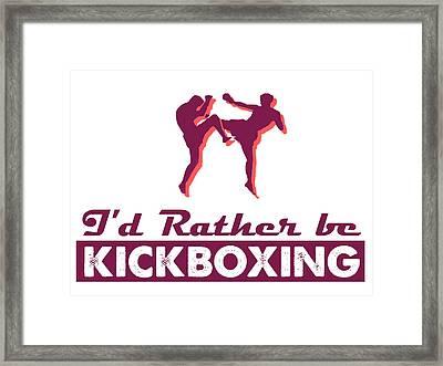 Kick Boxer - Kickboxing Framed Print by MotionAge Designs