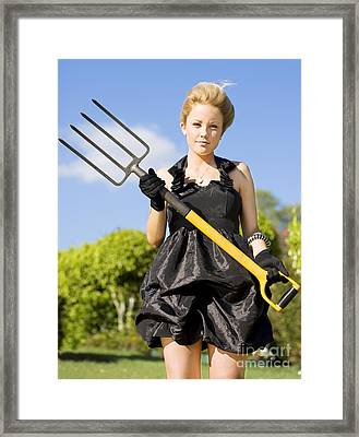 Killing Weeds With Killer Style Framed Print by Jorgo Photography - Wall Art Gallery