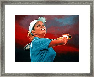 Kim Clijsters Framed Print by Paul Meijering