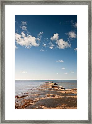 Kimmeridge Bay Seascape  Framed Print by Matthew Gibson