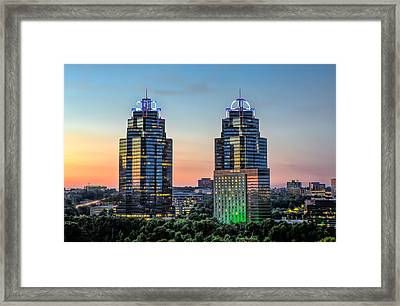 King And Queen Buildings Framed Print