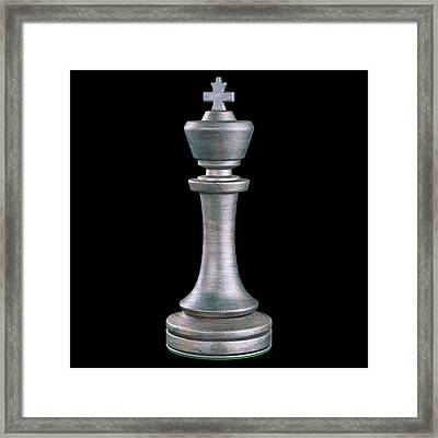 King Chess Piece Framed Print