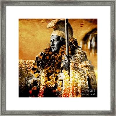 King Kamehameha I Framed Print by Laura  Gundy