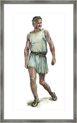 King Philip II Of Macedon Framed Print by Arturo Asensio/msf