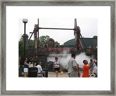 Kings Dominion - 12125 Framed Print by DC Photographer