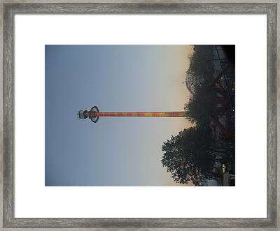 Kings Dominion - Drop Tower - 12121 Framed Print