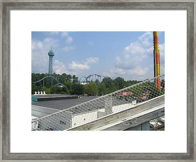 Kings Dominion - Shockwave - 12121 Framed Print by DC Photographer