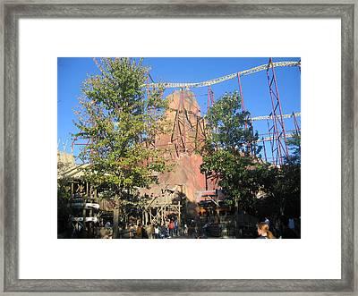 Kings Dominion - Volcano - 12121 Framed Print