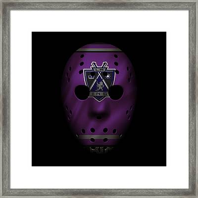 Kings Jersey Mask Framed Print by Joe Hamilton