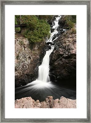 Kinsmen Park Waterfall Framed Print